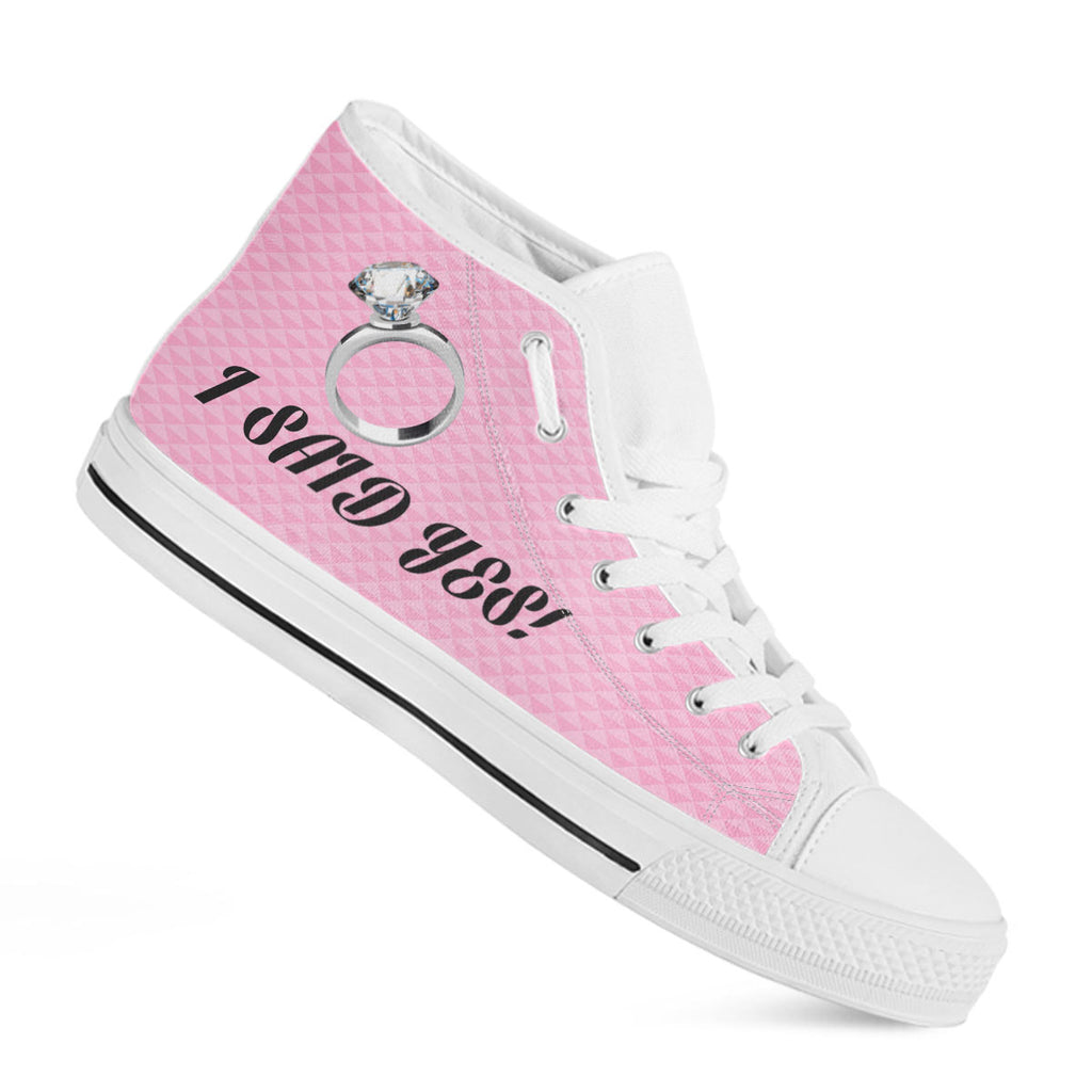 """I Said Yes"" Bachelorette Party High-Top Shoes"