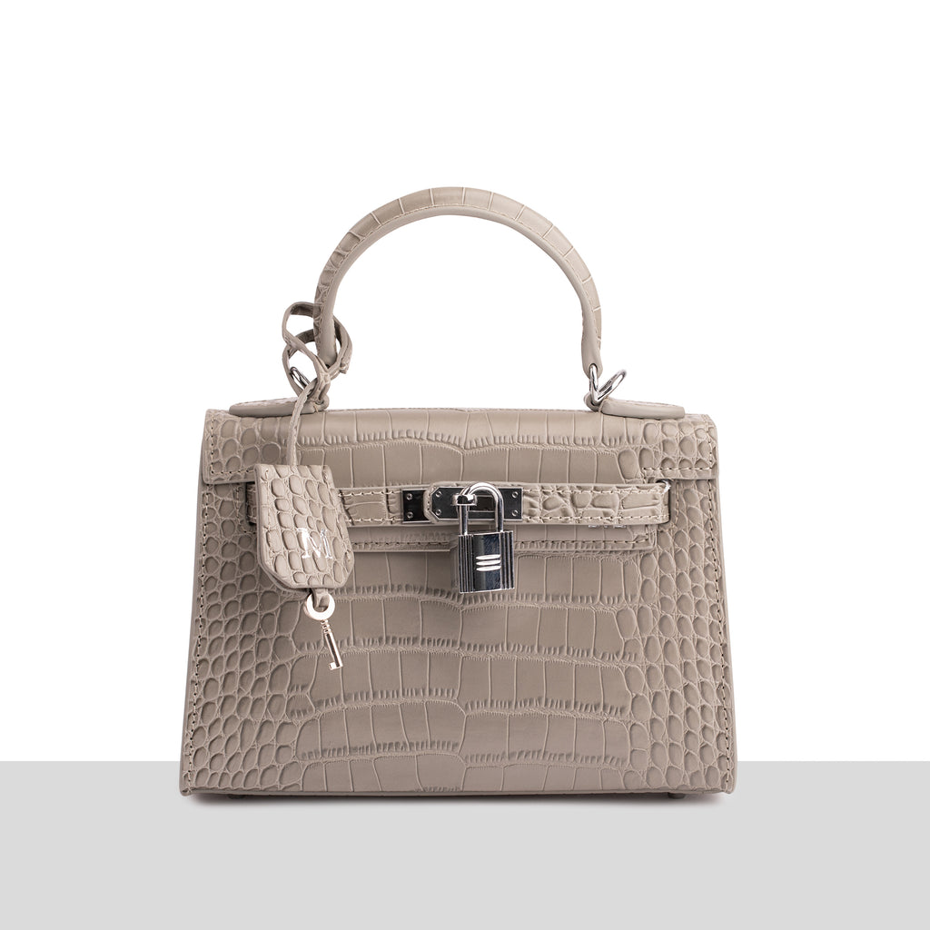 Monaco Mini Bag in Grey Croc