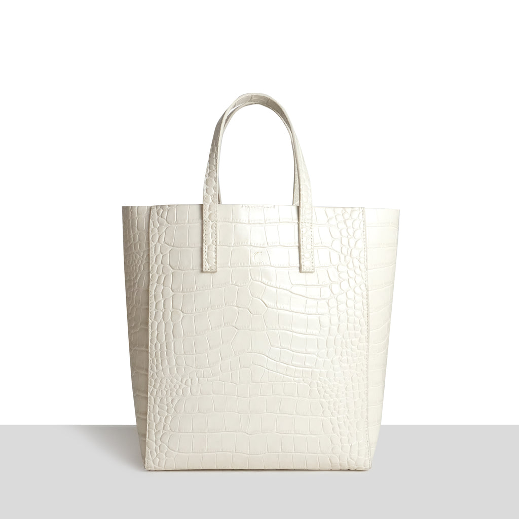 Seoul Shopper in Cream Croc