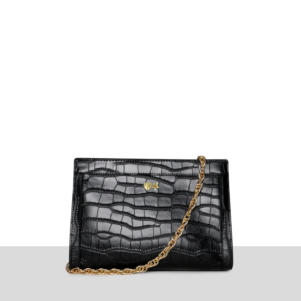 Moscow Bag in Black Croc