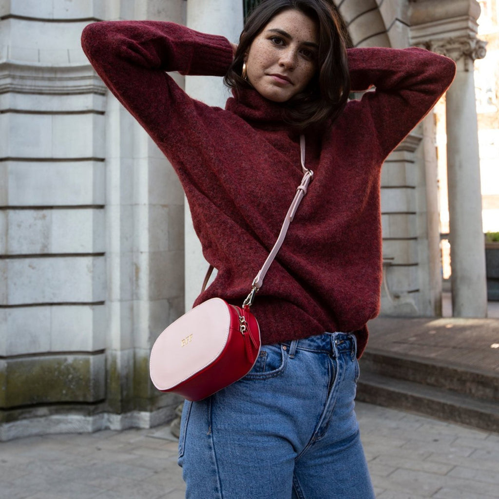 Pink and Red Multi-way Bumbag