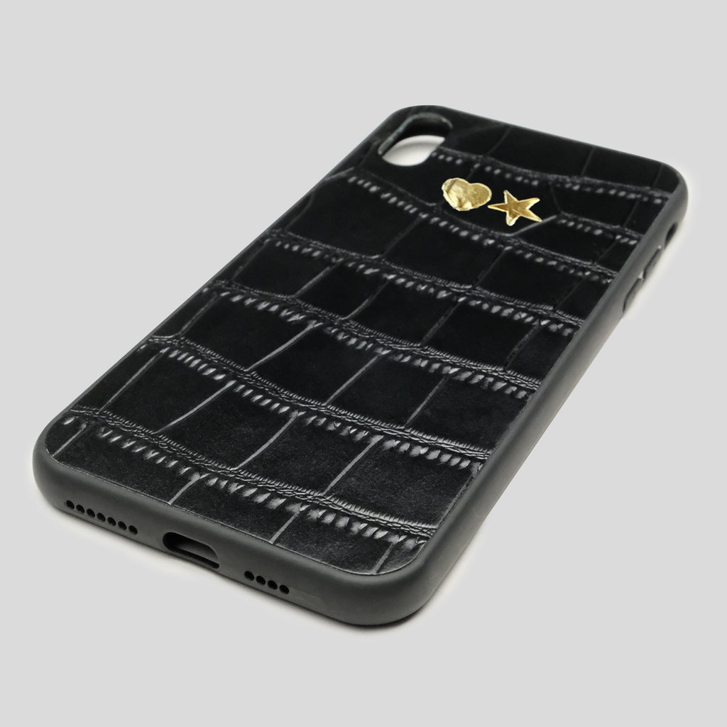 Black Croc iPhone XS Max Case