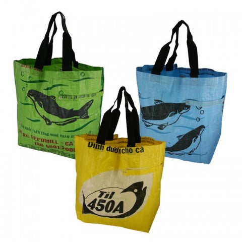Eco Reusable Shopper Tote Set of 3