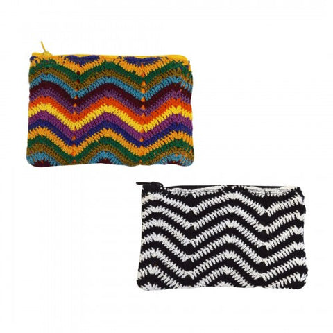 Zig Zag Crochet Coin Purse