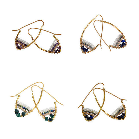 Stone Hoop Earth Collection Earrings
