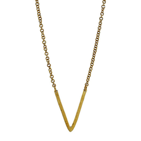 Equator Brass Necklace