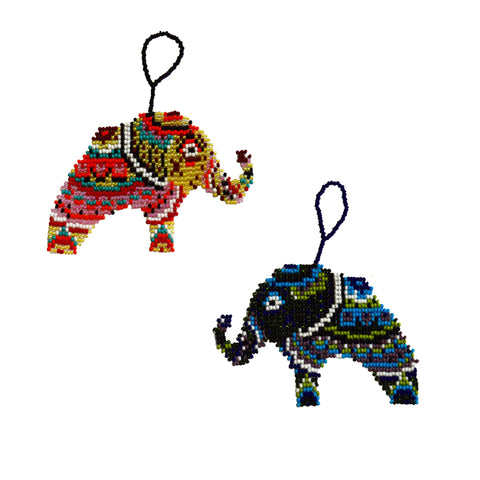Bohemian Elephant Ornament