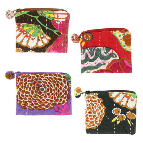 Hand Stitched Kantha Coin Purse