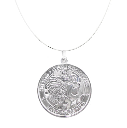 All Sterling Silver St Christopher Medal - Medium