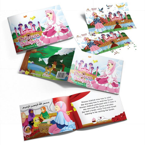 6. Combo Set Princess Solehah + Sticker Beads - Children Islamic Collection