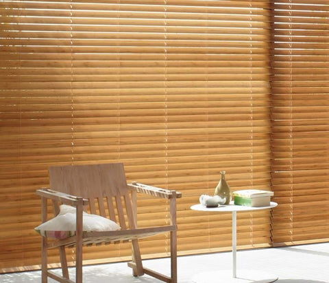 Luxaflex Country Woods Timber Venetians at Fabers Furnishings