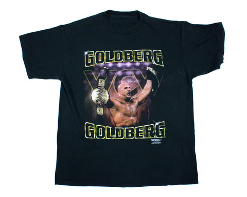 WCW GOLDBERG BELT VINTAGE T-SHIRT XL