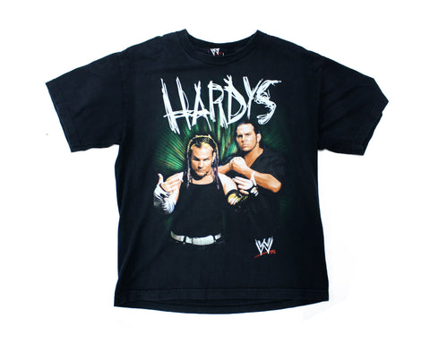 WWE HARDYS SCRATCH TEXT VINTAGE T-SHIRT SMALL
