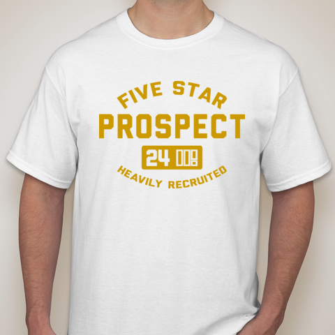 5SP - ATHLETICS (BALLER GOLD) T-SHIRT BY FIVE STAR PROSPECT