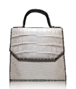 Platinum Crocodile Bag
