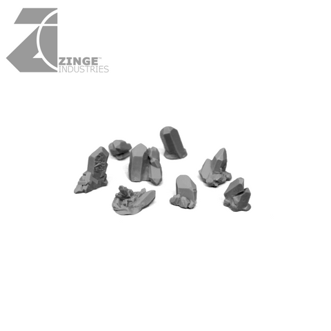 Dark Magic Crystals - Sprue of 8 - Various Small