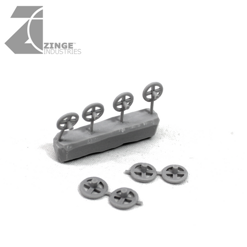 Hand Wheels - Sprue of 4 X 2