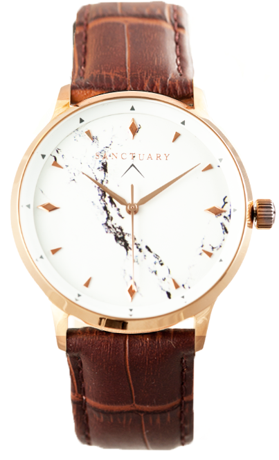 Victoria White Marble / Rose Gold & White Marble Watch
