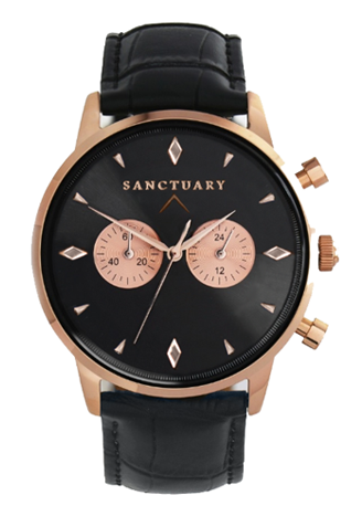 The Cambridge / Rose Gold & Black  Watch