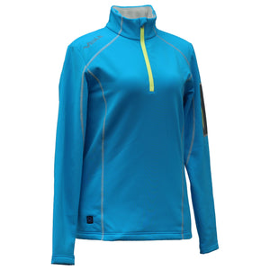 Jackets - THZ Women 5V Heated Thermal Half-Zip Pullover
