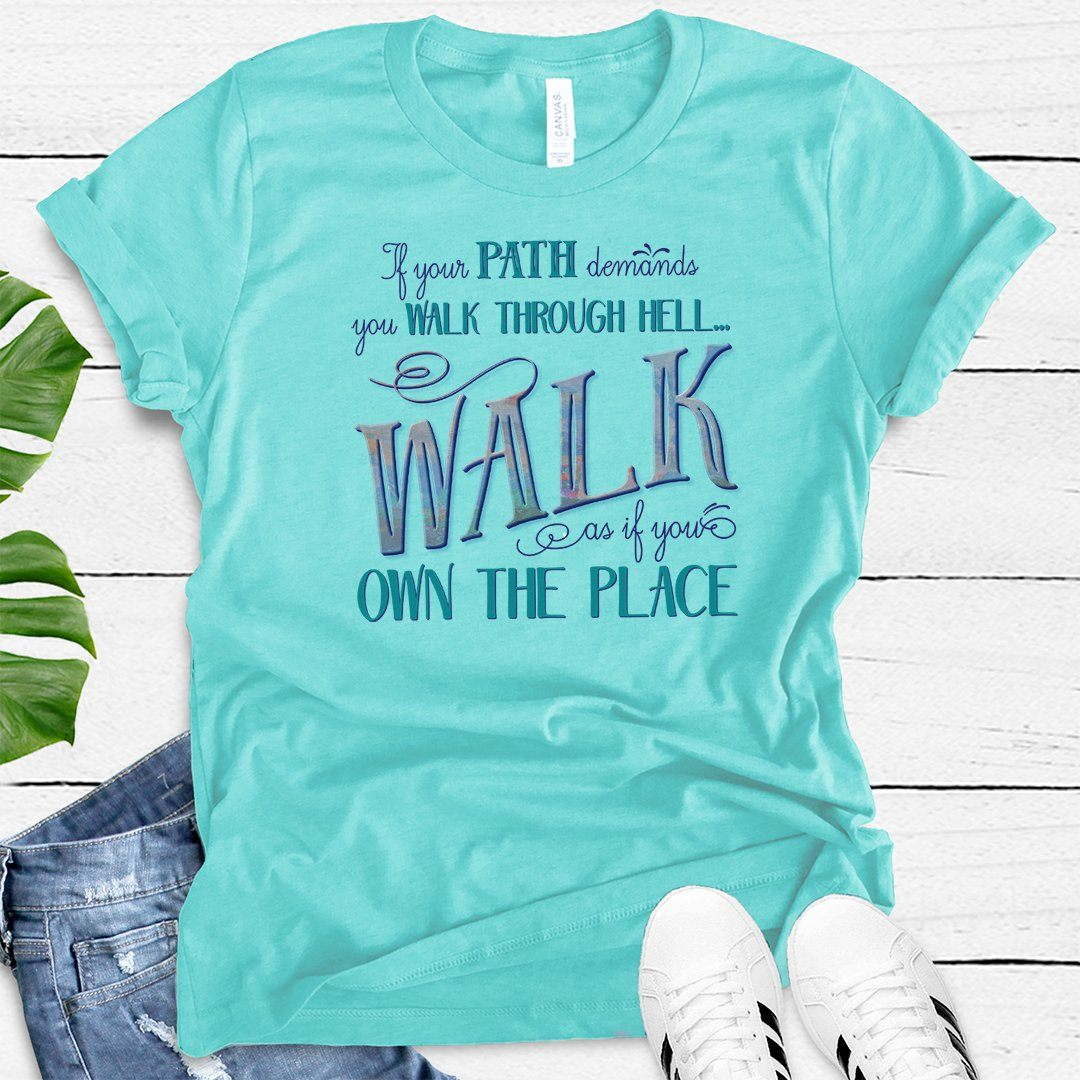 Walk Through Hell Colorful Design • Women's TriBlend Althetic Tee
