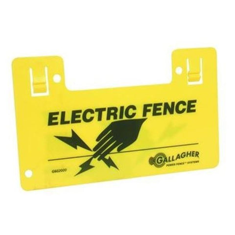Warning Sign Alerts Pedestrians to Electric Fence