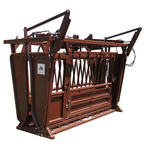 Hydraulic Extra Long Squeeze Chute with Palp Cage