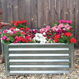 Rustic Metal Garden Bed for Flowers