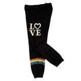 Flowers by Zoe Girls Black Love Sweatpant