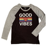 Flowers by Zoe Good Vibes Raglan Tee