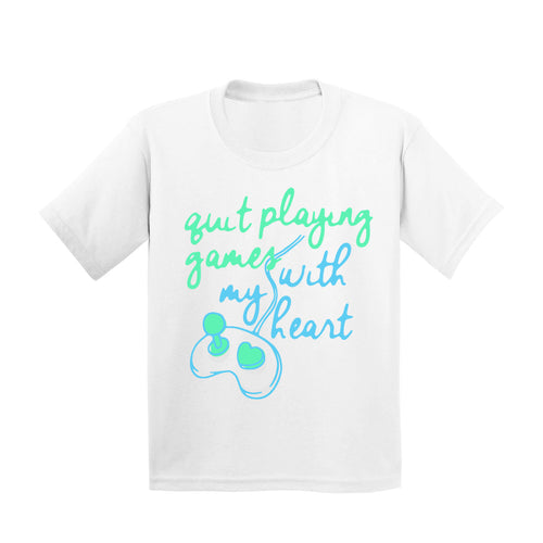 Quit Playing Games With My Heart White Youth Tee