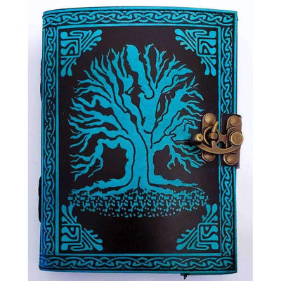 Teal Yggdrasil Handpainted Journal