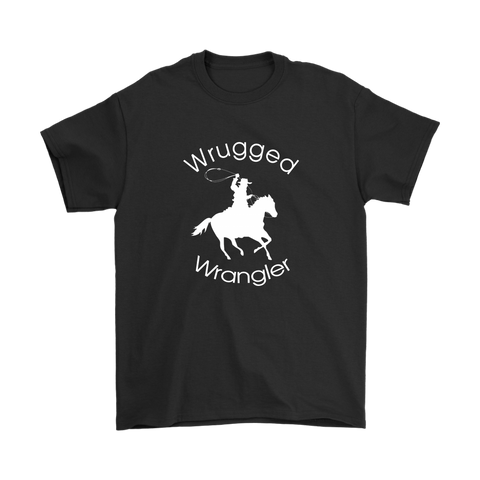 Wrugged Wrangler Men's T-Shirt - Black