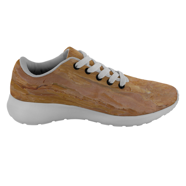 Deep Rust Tree Bark - Running Shoes Right Shoe