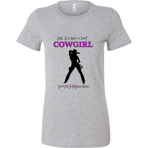Bad Cowgirl Ladies Bella T-Shirts - Athletic Heather
