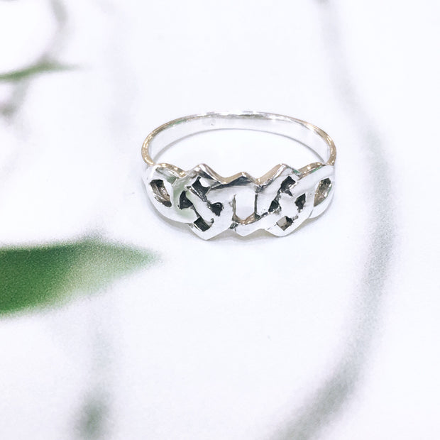 Sterling Silver Celtic Knotwork Ring