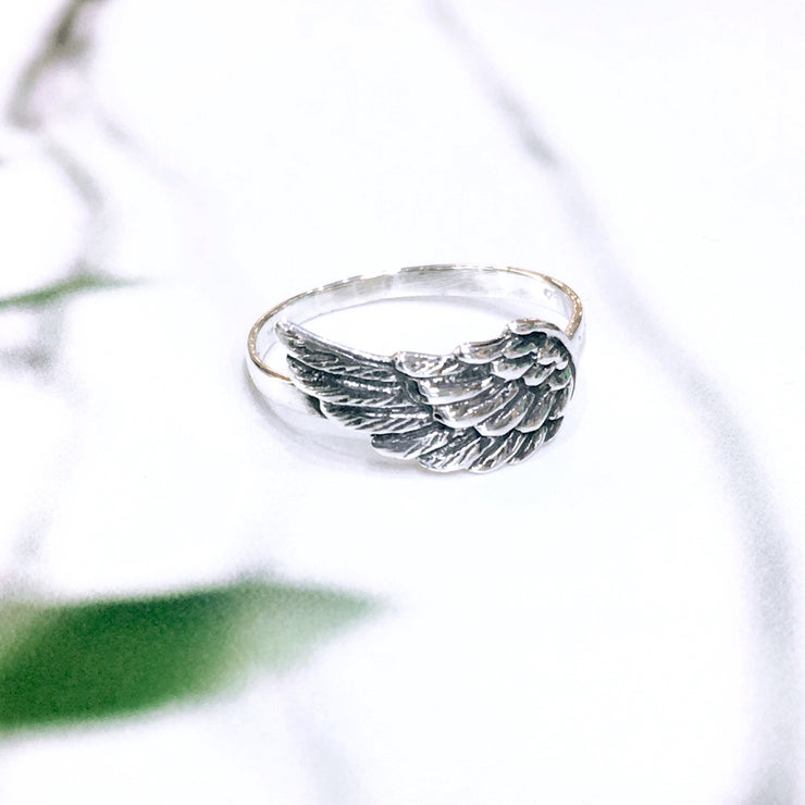 Angel Wing Ring - Sterling Silver
