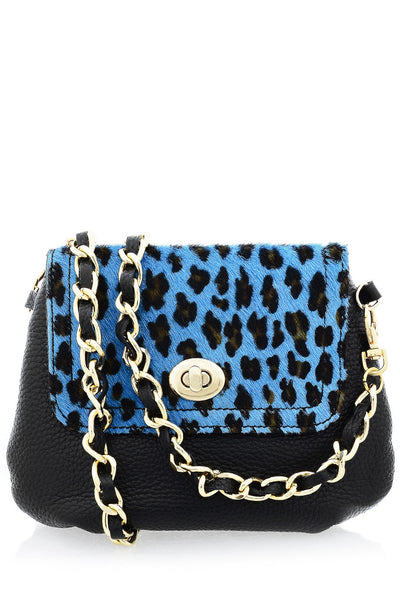 CAPOVERSO AZZURA Black Pony Hair Crossbody Bag