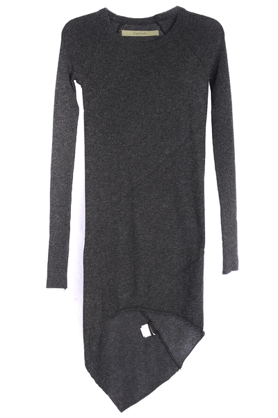 ENZA COSTA - CASHMERE Twist Grey Tunic Dress - Woman Clothing - Dresses
