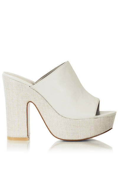 FRANCESCO MILANO HANKA Ivory Heeled Sandals