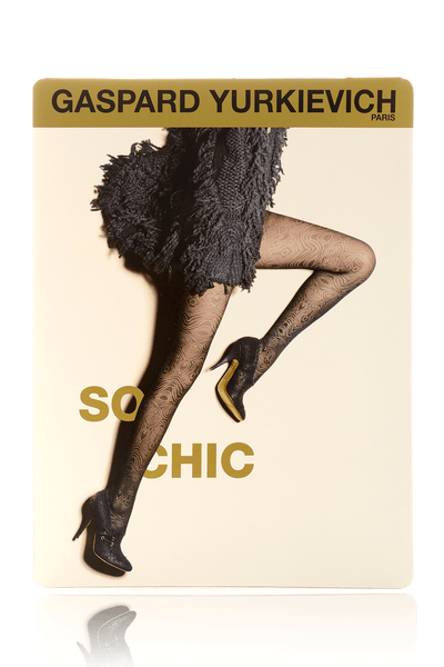 GERBE SO CHIC Black Psychedelic Tights