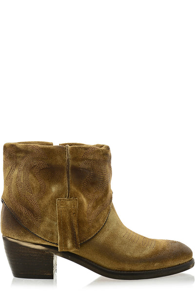 PENY Camel Cowboy Ankle Boots
