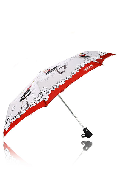 OLIVE OYL Princess & the Frog Grey Red Printed Umbrella