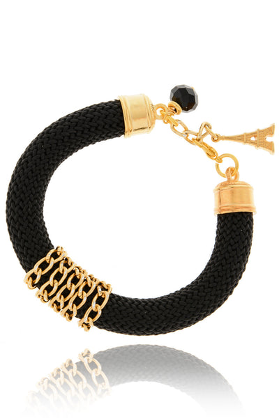 SILENA Black Golden Chain Bracelet