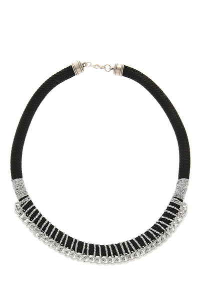DORIS Black Silver Necklace