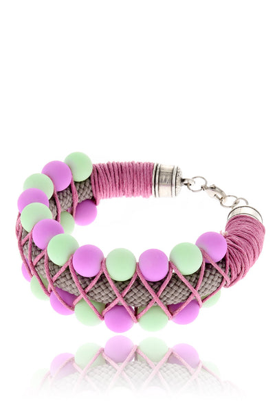 MULTI BUBBLES Mint Purple Bracelet