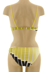 ROSANNAANSALONI LIME Striped Bikini