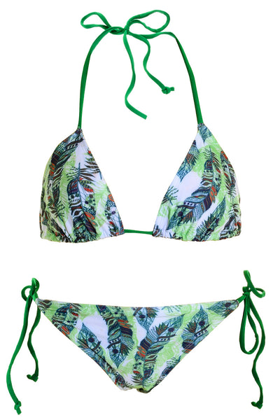 LAUREL Green Triangle Bikini