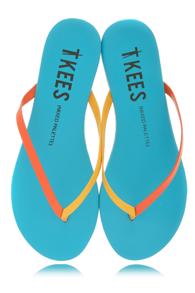 MIXED PALETTE Skyburst Leather Thong Sandals