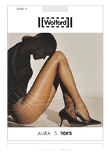 WOLFORD AURA 5 Ultra Sheer Caramel Tights 4004